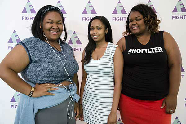 "<div class=""meta image-caption""><div class=""origin-logo origin-image ""><span></span></div><span class=""caption-text"">Pictured: Erica Irving, Shante Turner and Brittany Lowman at Step Up Against AIDS. 20th Anniversary of AIDS Education Month. (Photo/Holly E Clark)</span></div>"