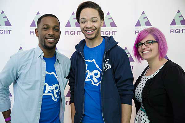 "<div class=""meta image-caption""><div class=""origin-logo origin-image ""><span></span></div><span class=""caption-text"">Pictured: FIGHT Staffers Antonio Boone, D'Ontace Keyes and Jen Mainville at Step Up Against AIDS. 20th Anniversary of AIDS Education Month. (Photo/Holly E Clark)</span></div>"
