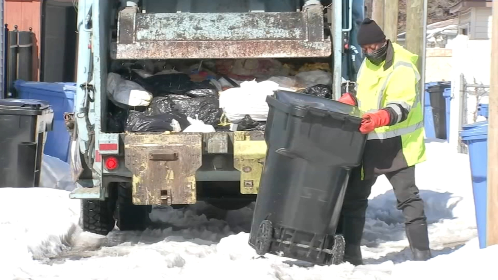No garbage pickup for some Washington Heights residents for 2 weeks after snow
