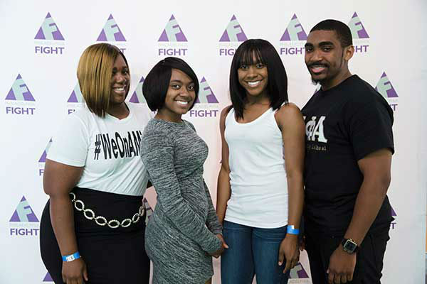 "<div class=""meta image-caption""><div class=""origin-logo origin-image ""><span></span></div><span class=""caption-text"">Pictured: Lakeya Gamble, Joy Wall, Jasmine Wall and Rashad Washington at Step Up Against AIDS. 20th Anniversary of AIDS Education Month. (Photo/Holly E Clark)</span></div>"