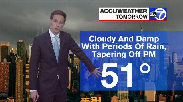 AccuWeather: Cloudy and damp