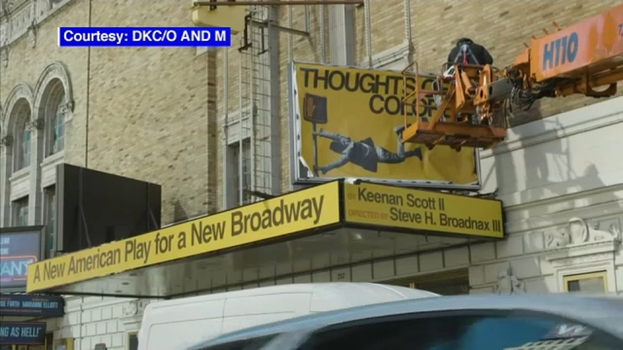 First new Broadway show marquee installed since COVID pandemic