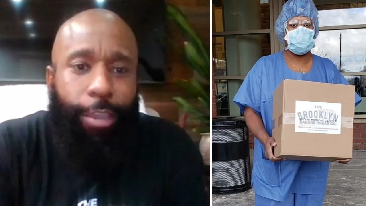 Be Kind: Man donates homemade banana bread to show appreciation for essential workers
