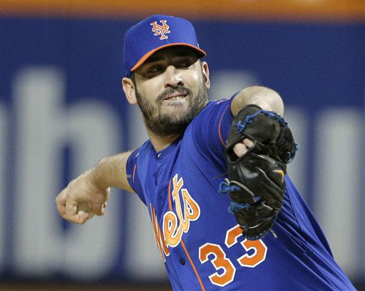 "<div class=""meta image-caption""><div class=""origin-logo origin-image none""><span>none</span></div><span class=""caption-text"">New York Mets pitcher Matt Harvey throws during the first inning of Game 1. (AP Photo/ Julie Jacobson)</span></div>"