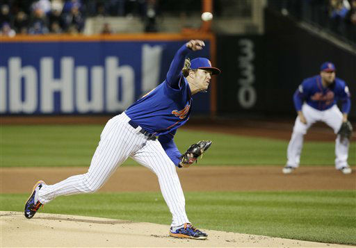 "<div class=""meta image-caption""><div class=""origin-logo origin-image none""><span>none</span></div><span class=""caption-text"">New York Mets pitcher Noah Syndergaard throws during the first inning of Game 2. (AP Photo/ Julie Jacobson)</span></div>"