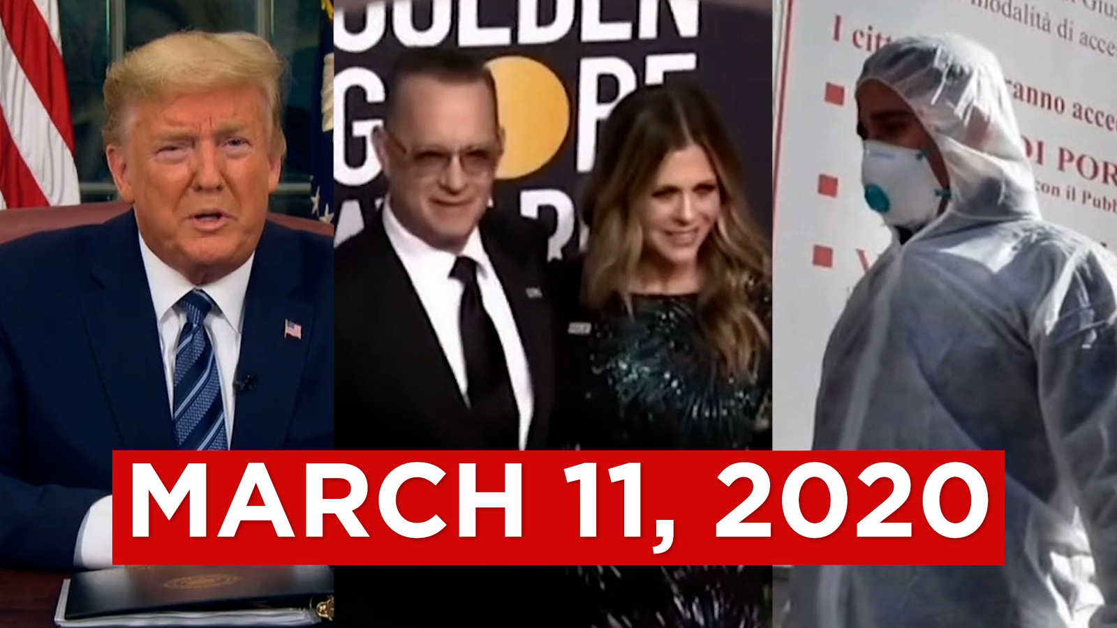 Watch the newscast from the night the world changed – March 11, 2020