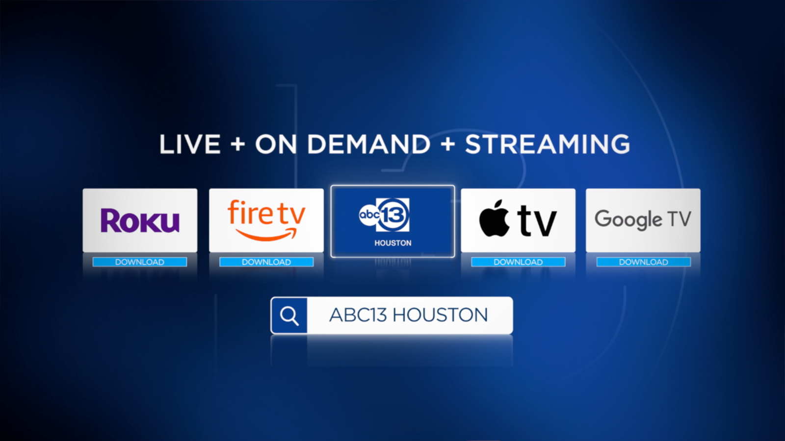 Here's how to watch ABC13's breaking news and weather on your streaming device