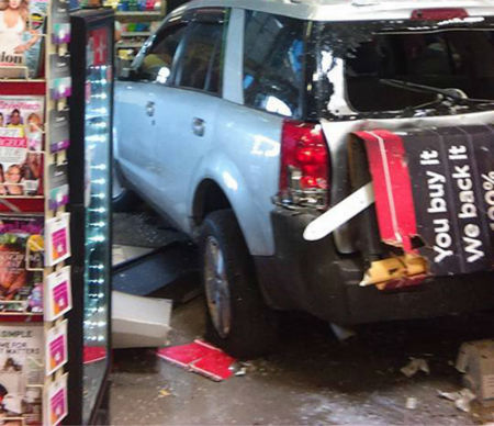 "<div class=""meta image-caption""><div class=""origin-logo origin-image none""><span>none</span></div><span class=""caption-text"">Viewer photos of a vehicle that drove into an H-E-B in the Gulfgate area.</span></div>"