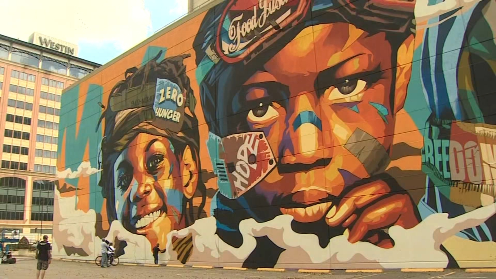 Houston's 'ZERO HUNGER' mural is largest in city, highlights poverty problem