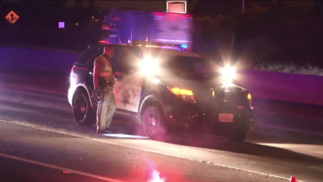 Fatal crash on Hwy 101 in San Francisco, Tuesday, October 20, 2015.
