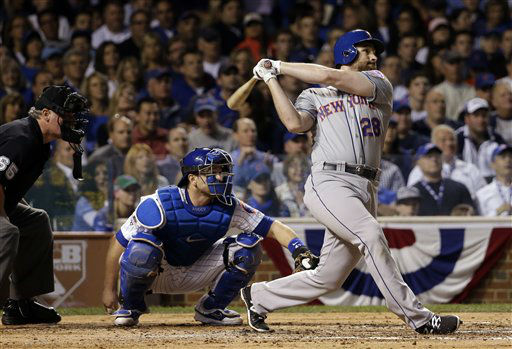 "<div class=""meta image-caption""><div class=""origin-logo origin-image none""><span>none</span></div><span class=""caption-text"">New York Mets' Daniel Murphy hits a home run during the third inning of Game 3. (AP Photo/David J. Phillip) (AP Photo/ David J. Phillip)</span></div>"