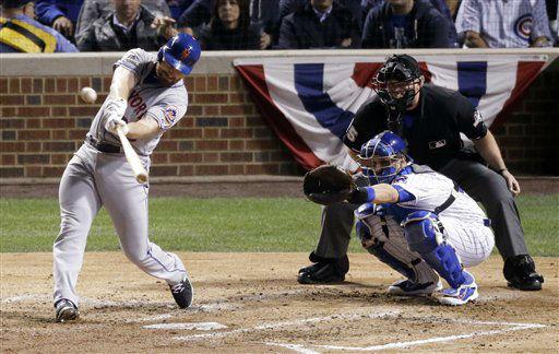 "<div class=""meta image-caption""><div class=""origin-logo origin-image none""><span>none</span></div><span class=""caption-text"">New York Mets' Daniel Murphy hits a home run during the third inning of Game 3. (AP Photo/David Goldman) (AP Photo/ David Goldman)</span></div>"