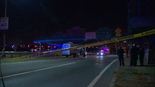 "<div class=""meta image-caption""><div class=""origin-logo origin-image none""><span>none</span></div><span class=""caption-text"">An NYPD officer was shot Tuesday night after he responded to shots fired and chased a suspect to a footbridge at the FDR Drive. (WABC Photo/ WABC)</span></div>"