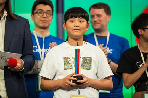 Doodle for Google winner Audrey Zhang.