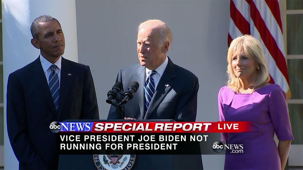 Biden announces he won't run for president