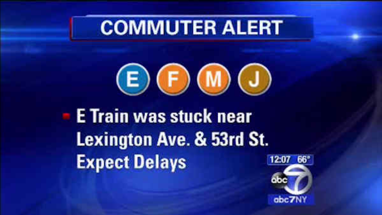 E subway with mechanical problems stuck north of Lexington/53rd