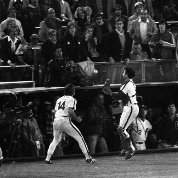 "<div class=""meta image-caption""><div class=""origin-logo origin-image none""><span>none</span></div><span class=""caption-text"">A foul pop from Kansas City Royals batter Frank White is deflected by Philadelphia Phillies catcher Bob Boone as first baseban Pete Rose  moves in to make the catch.</span></div>"