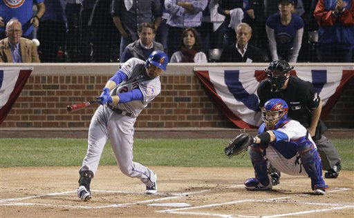 "<div class=""meta image-caption""><div class=""origin-logo origin-image none""><span>none</span></div><span class=""caption-text"">Mets' Lucas Duda hits a three-run home run during the first inning of Game 4 of the NLCS. (AP Photo/ David Goldman)</span></div>"