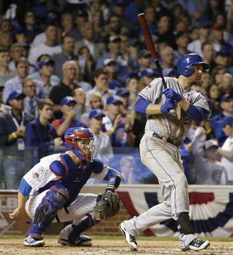 "<div class=""meta image-caption""><div class=""origin-logo origin-image none""><span>none</span></div><span class=""caption-text"">Lucas Duda hits a two-run scoring double during the second inning of Game 4. (AP Photo/ David J. Phillip)</span></div>"