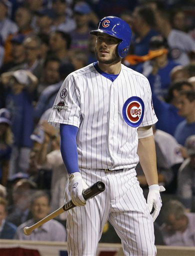 "<div class=""meta image-caption""><div class=""origin-logo origin-image none""><span>none</span></div><span class=""caption-text"">Chicago Cubs' Kris Bryant looks back after striking out during the fifth inning. (AP Photo/ Nam Y. Huh)</span></div>"