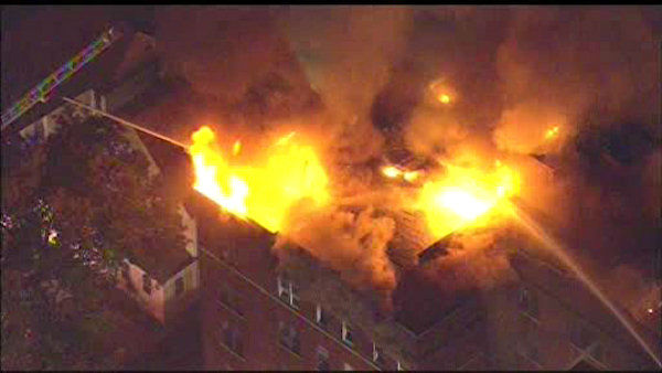 """<div class=""""meta image-caption""""><div class=""""origin-logo origin-image none""""><span>none</span></div><span class=""""caption-text"""">A massive fire destroyed a Passaic, New Jersey apartment building on Wednesday night. The fire is said to have started on the top floors of the building. (WABC Photo/ WABC)</span></div>"""