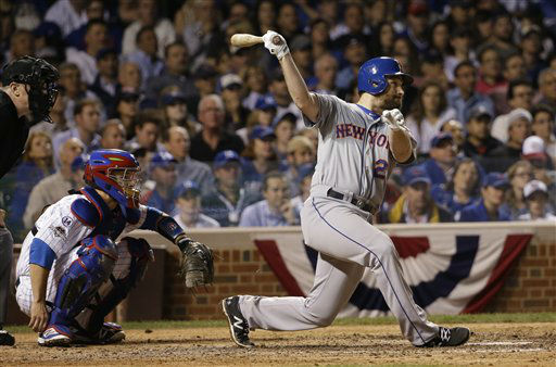 "<div class=""meta image-caption""><div class=""origin-logo origin-image none""><span>none</span></div><span class=""caption-text"">New York Mets' Daniel Murphy hits a double during the seventh inning. (AP Photo/ David J. Phillip)</span></div>"