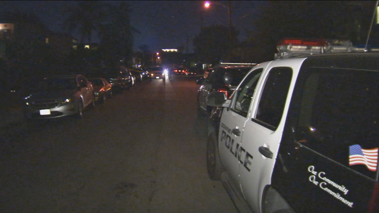 Three people, including a child, were found dead inside an apartment in the 7300 block of Neo Street in Downey on Wednesday, Oct. 21, 2015.
