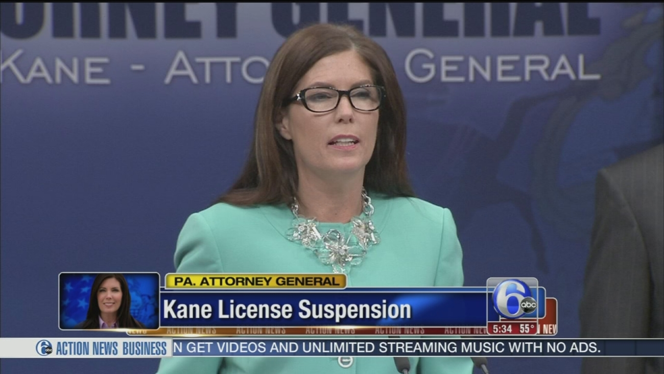 VIDEO: Kathleen Kane law license suspended