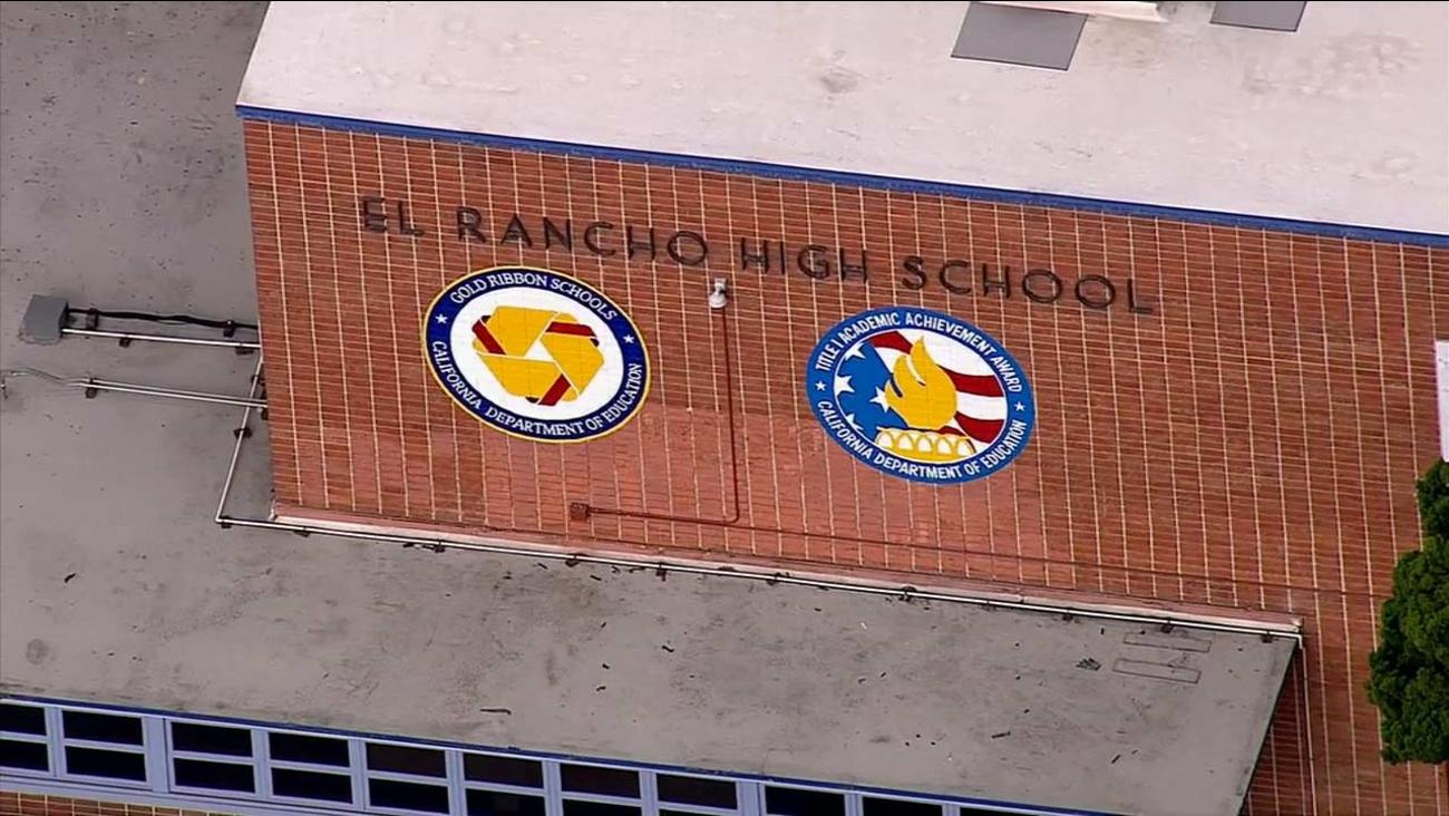 El Rancho High School was placed on lockdown on Thursday, Oct. 22, 2015.
