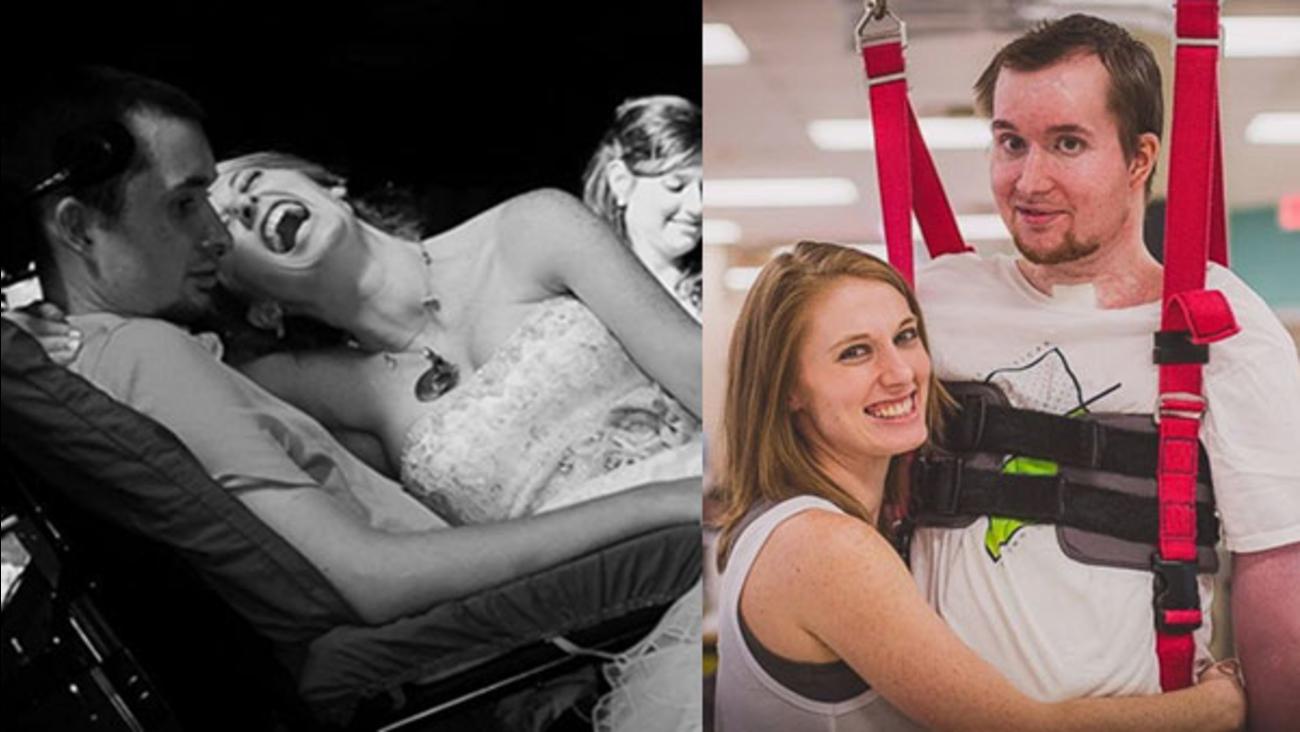 paralyzed wedding dance