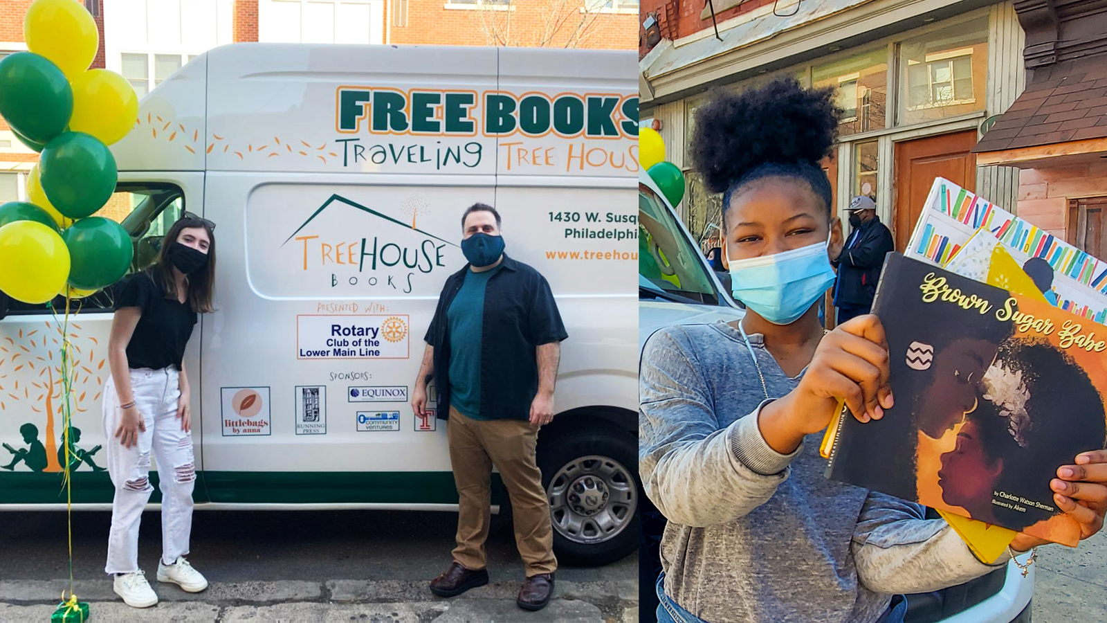 The 'Traveling Tree House' hits Philly streets with free children's books