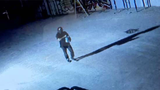 <div class='meta'><div class='origin-logo' data-origin='none'></div><span class='caption-text' data-credit='KTRK Photo'>A masked man seen in surveillance video vandalizing the murals in downtown Houston</span></div>