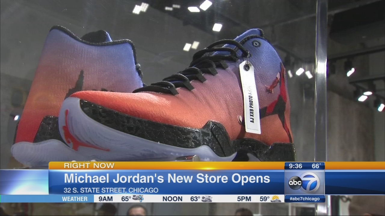 michael jordan store opens in chicago abc7chicago