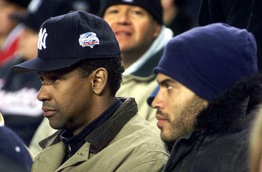 "<div class=""meta image-caption""><div class=""origin-logo origin-image none""><span>none</span></div><span class=""caption-text"">Actor Denzel Washington, left, and singer Lenny Kravitz watch Game 2 of the World Series at Yankee Stadium. (AP Photo/Mark Lennihan)</span></div>"