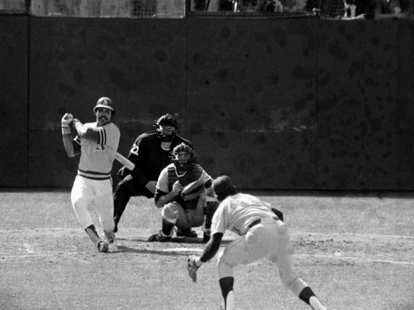 "<div class=""meta image-caption""><div class=""origin-logo origin-image none""><span>none</span></div><span class=""caption-text"">Reggie Jackson of the Oakland Athletics belts his second double of  Game 6. (AP Photo) (AP Photo/ Anonymous)</span></div>"