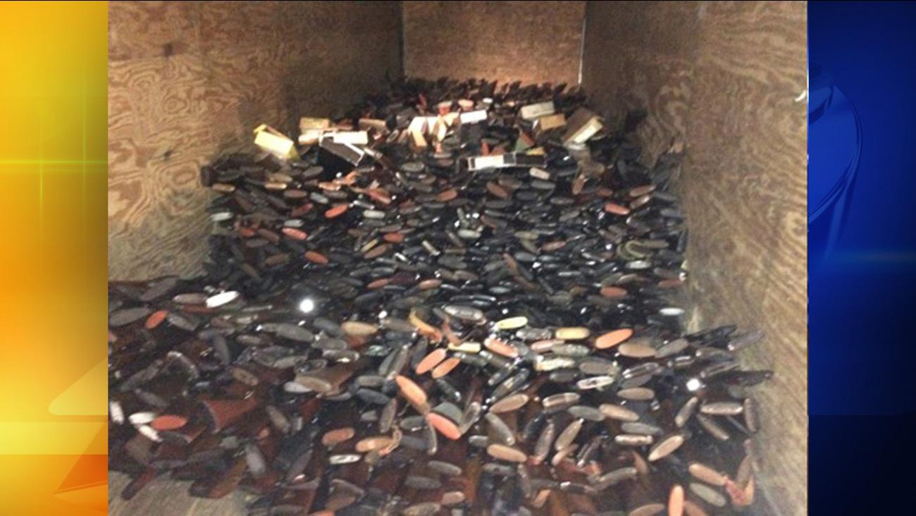 Guns found in a South Carolina home