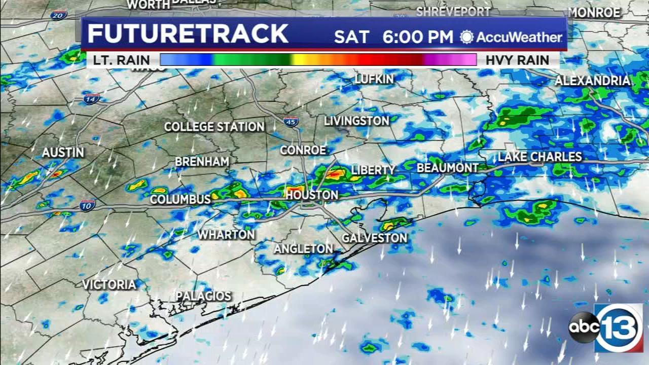 Rain chance will continue through Saturday