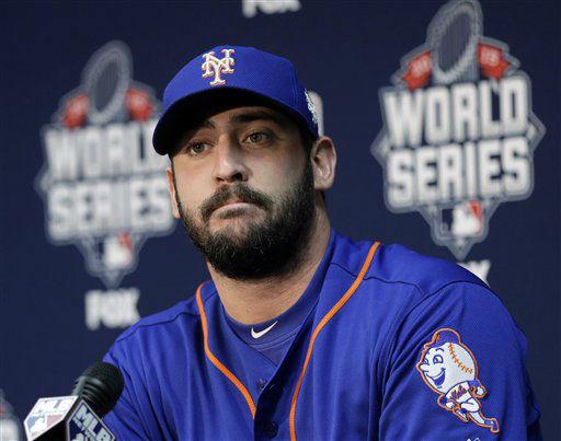 "<div class=""meta image-caption""><div class=""origin-logo origin-image none""><span>none</span></div><span class=""caption-text"">New York Mets starting pitcher Matt Harvey talks during media day. (AP Photo/ David J. Phillip)</span></div>"