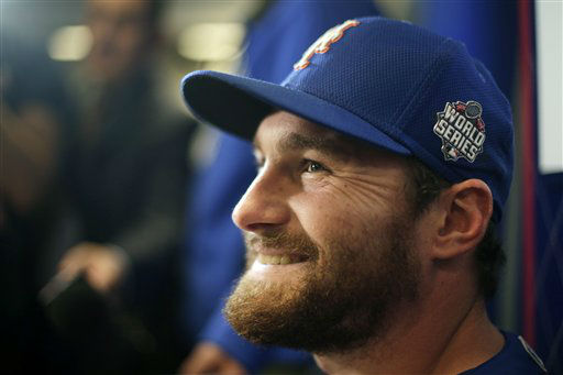 "<div class=""meta image-caption""><div class=""origin-logo origin-image none""><span>none</span></div><span class=""caption-text"">New York Mets second baseman Daniel Murphy talks during media day. (AP Photo/ Charlie Riedel)</span></div>"