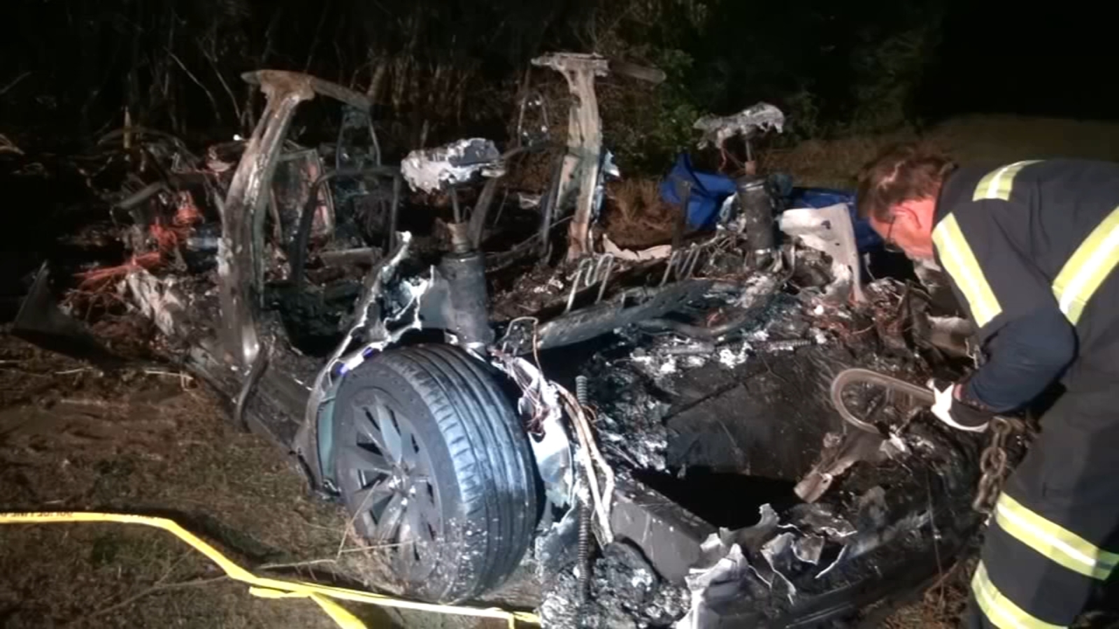 Investigators in Texas Looking Into Fiery Tesla Car Crash That Killed Two