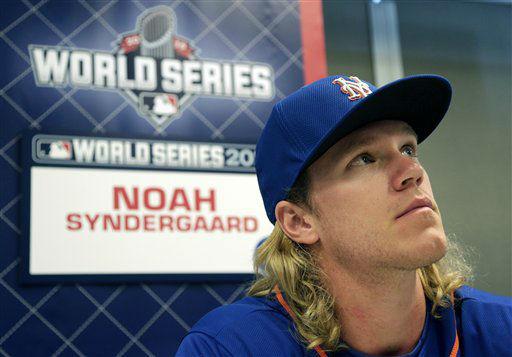 "<div class=""meta image-caption""><div class=""origin-logo origin-image none""><span>none</span></div><span class=""caption-text"">New York Mets starting pitcher Noah Syndergaard talks during media day. ((AP Photo/Charlie Riedel))</span></div>"