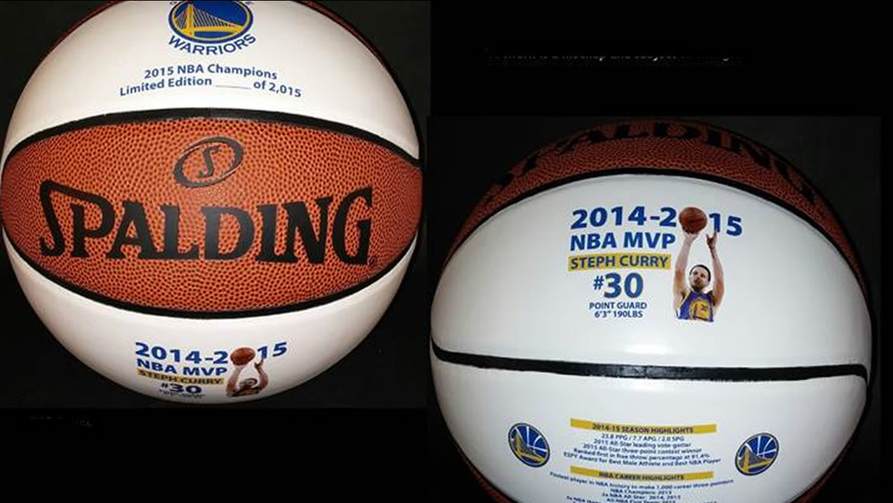 A limited number of Steph Curry MVP basketballs are being sold to benefit Hoops for Kids.