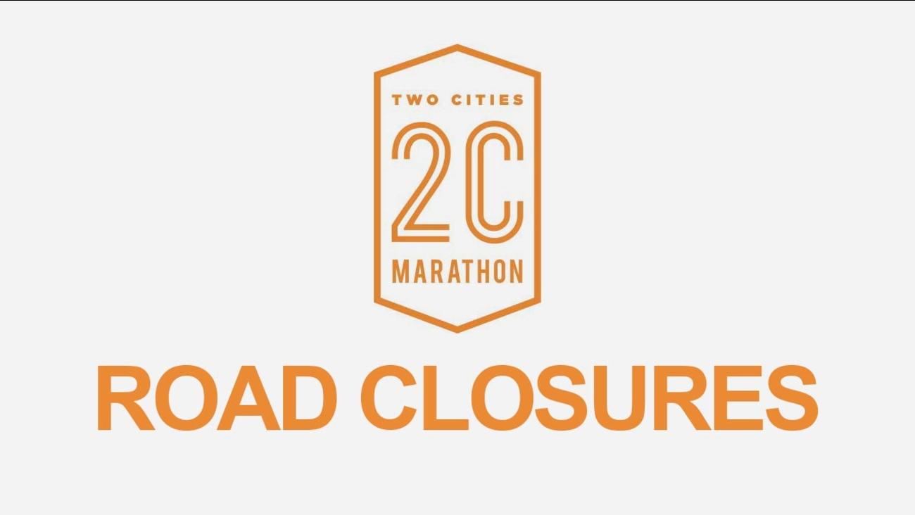Two Cities Marathon and Half Road Closures