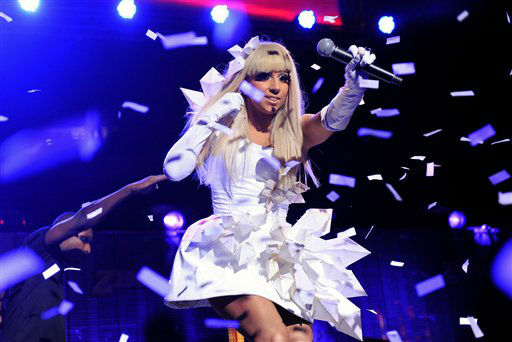 <div class='meta'><div class='origin-logo' data-origin='none'></div><span class='caption-text' data-credit='AP Photo/ Evan Agostini'>Singer Lady Gaga performs at Z100 Jingle Ball 2008 at Madison Square Garden on Friday, Dec. 12, 2008 in New York.</span></div>