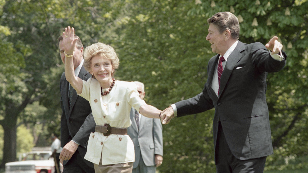 president reagan nancy reagan 1986