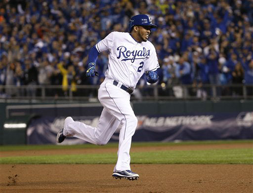 "<div class=""meta image-caption""><div class=""origin-logo origin-image none""><span>none</span></div><span class=""caption-text"">Kansas City Royals Alcides Escobar runs home to score on an in-the-park home run during the first inning. (AP Photo/Matt Slocum) (AP Photo/ Matt Slocum)</span></div>"