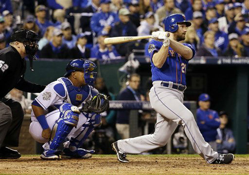 "<div class=""meta image-caption""><div class=""origin-logo origin-image none""><span>none</span></div><span class=""caption-text"">New York Mets' Daniel Murphy hits a single during the fourth inning. (AP Photo/David J. Phillip) (AP Photo/ David J. Phillip)</span></div>"