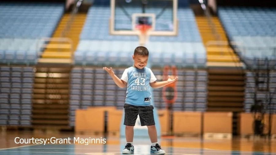 5-year-old boy with Down syndrome gets dream weekend at UNC