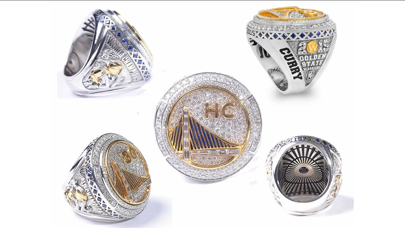 Golden State Warriors 2015 Championship rings