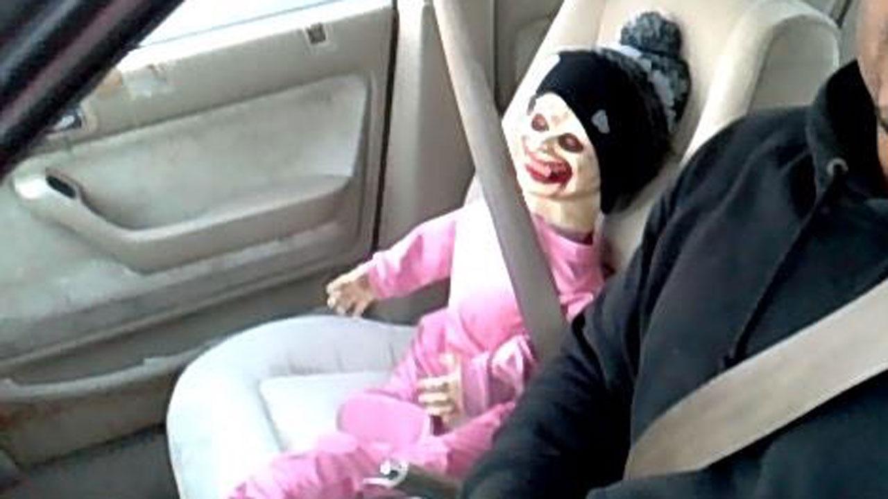 Zombie baby used as HOV passenger in Tacoma, Washington